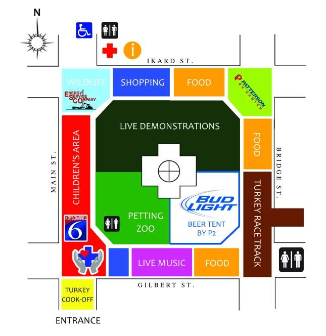 2013 Turkey Fest Map