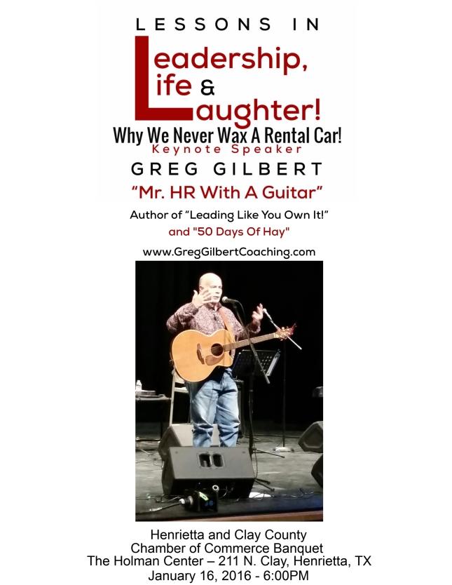 Greg Gilbert Flyer